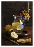 Life And Lemons Giclée-tryk af Luiz Laercio