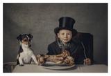 The Dinner Giclee Print by Monika Vanhercke
