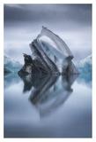 Landing On Iceberg Giclee Print by Lucie Bressy