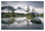Rainy Morning At Hintersee (Bavaria) Giclee Print by Dirk Wiemer