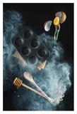 Kitchen Mess: Honey Muffins Giclee Print by Dina Belenko