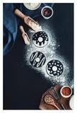 Baking Recipe: Donuts Giclee Print by Dina Belenko