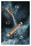 Kitchen Mess: Star-Shaped Cookies Giclee Print by Dina Belenko