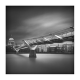 Millennium Bridge Giclee Print by Ahmed Thabet