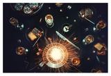 Supernova On My Plate Giclee Print by Dina Belenko