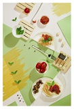 Suprematic Meal: Pasta With Tomato Sauce And Mushrooms Giclee Print by Dina Belenko