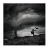 Man In The Wind Giclee Print by Radovan Skohel