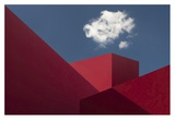 Red Shapes Giclee Print by Hugo Borges