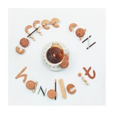 Food Lettering: Coffee Can Handle It Giclee Print by Dina Belenko