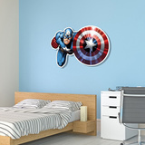 Captain America Shield Bash! Wall Art Papfigurer