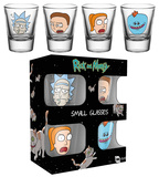 Rick and Morty - Faces Shot Glass Set Rariteter