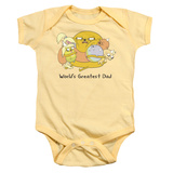 Infant: Adventure Time- Worlds Greatest Dad Onesie Infant Onesie