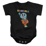 Infant: Amazing World Of Gumball- Excited Darwin & Nicole Onesie Infant Onesie