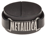 Metallica - Logo Leather Bracelet Armbånd