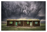 Cabin and Storm Giclee Print by Leah Kennedy