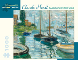 Claude Monet - Sailboats on the Seine 1000 Piece Jigsaw Puzzle Jigsaw Puzzle