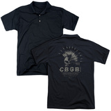 Polo: CBGB- Electric Mohawk Skull(Back Print) T-Shirt