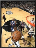 Atlanta Hawks v San Antonio Spurs: DeJuan Blair and Damien Wilkins Prints by D. Clarke Evans