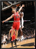 Chicago Bulls v San Antonio Spurs: Antonio McDyess and Brian Scalabrine Print by D. Clarke Evans
