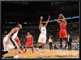 Chicago Bulls v San Antonio Spurs: Derrick Rose and Tony Parker Print by D. Clarke Evans