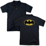 Polo: Batman- Classic Costume Logo (Back Print) T-shirts