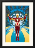 Warlock 1 Cover: Adam Warlock Charging Print by J. H. Williams III