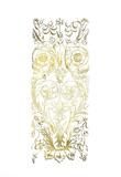 Gold Foil Renaissance Panel II Print by Owen Jones