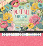 Bold Blossoms - 2018 Magnetic 17 Month Calendar Kalenders
