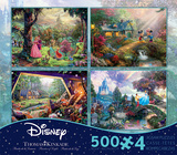 Thomas Kinkade Disney Dreams Collection 4 in 1 500 Piece Puzzle - Volume 3 Jigsaw Puzzle