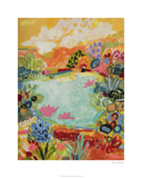 Whimsical Pond I Limited Edition by Karen Fields