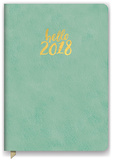 Hello Sea Green Leatheresque Weekly Planner Calendars