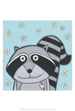 Super Animal - Raccoon Prints by Tatijana Lawrence