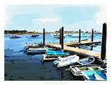 Bold Boats V Prints by Emily Kalina