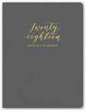 Clearly Charcoal Leatheresque Monthly Planner Calendars