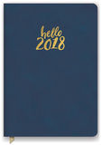 Hello Navy Leatheresque Weekly Planner Kalenders