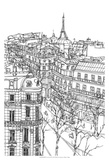 B&W City Scene IX Prints by Melissa Wang