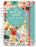 Secret Garden 17-Month - 2018 Weekly Planner w/Stickers Kalenders