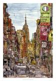 City Scene II Prints by Melissa Wang