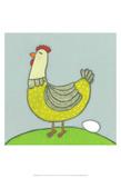 Super Animal - Hen Art by Tatijana Lawrence