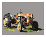 Vintage Tractor II Art by Emily Kalina
