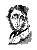 Henry David Thoreau - Cartoon Premium Giclee Print by Tom Bachtell