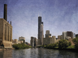 Chicago River View Giclee Print by Pete Kelly