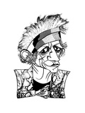Keith Richards - New Yorker Cartoon Giclee Print by Tom Bachtell