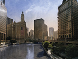 Chicago Skyline Giclee Print by Pete Kelly