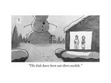 """The kids have been out there awhile."" - New Yorker Cartoon Premium Giclee Print by Jason Patterson"