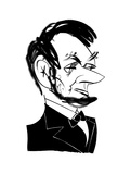 Abraham Lincoln - Cartoon Regular Giclee Print by Tom Bachtell