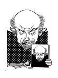 John Malkovich - Cartoon Regular Giclee Print by Tom Bachtell