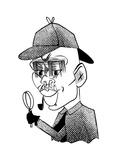Kareem Abdul-Jabbar - Cartoon Regular Giclee Print by Tom Bachtell