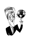 John Kerry Earth Day - Cartoon Premium Giclee Print by Tom Bachtell