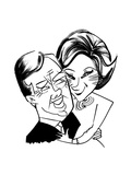 Jimmy and Rosalynn Carter - Cartoon Premium Giclee Print by Tom Bachtell
